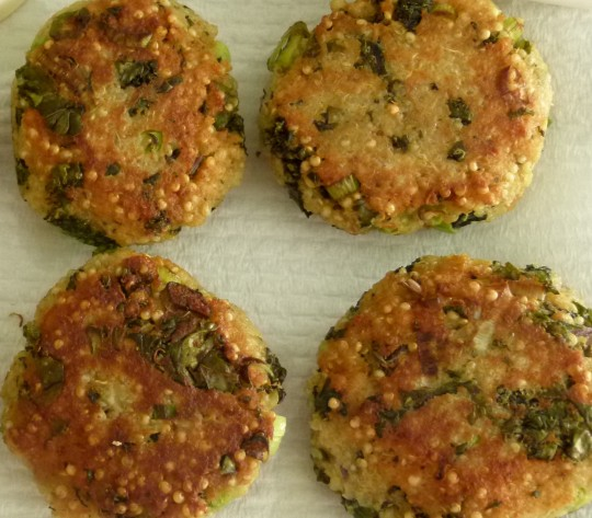 MissFoodFairy's golden quinoa & kale patties