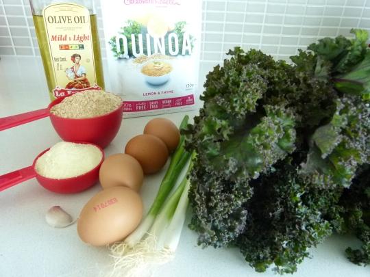 MissFoodFairy's quinoa and kale ingredients