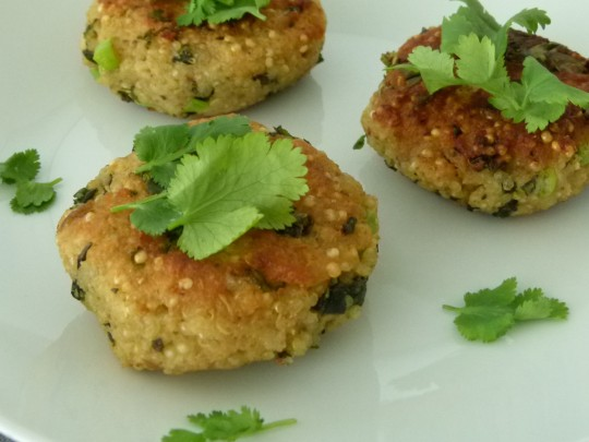 MissFoodFairy's quinoa and kale patties