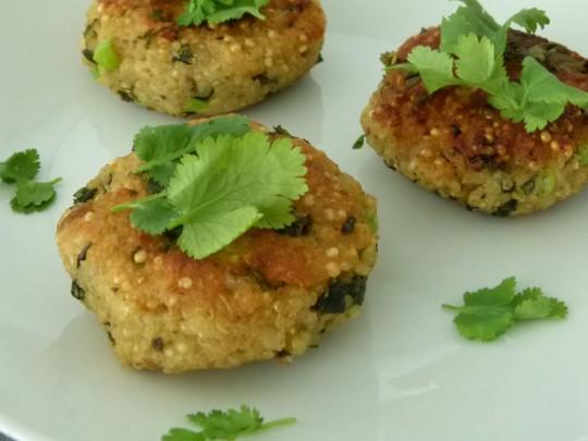 MissFoodFairy's quinoa and kale patties