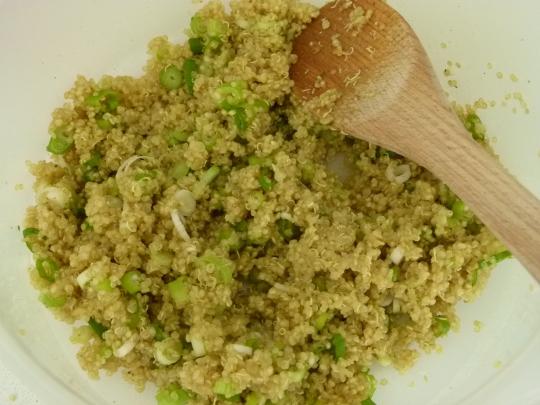 MissFoodFairy's quinoa & spring onions mix