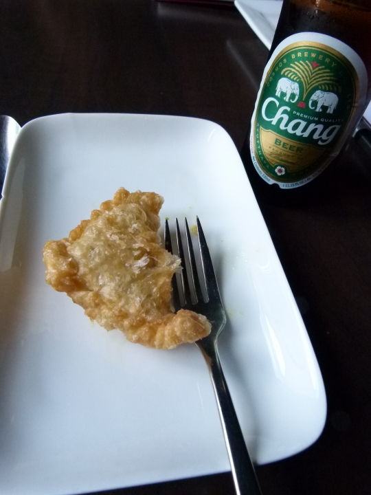 MissFoodFairy's Thai cooking class - curry puffs with Chang beer