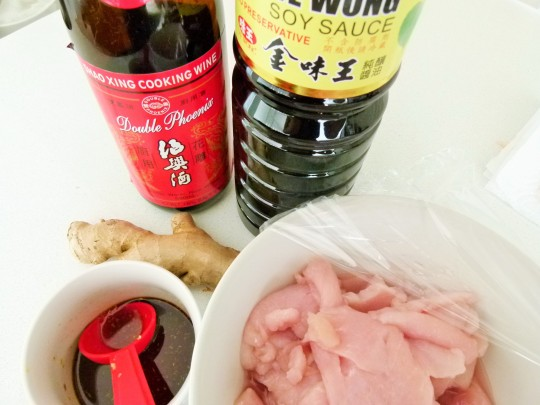 MissFoodFairy's prep for Sichuan pepper-salt stirfry chicken