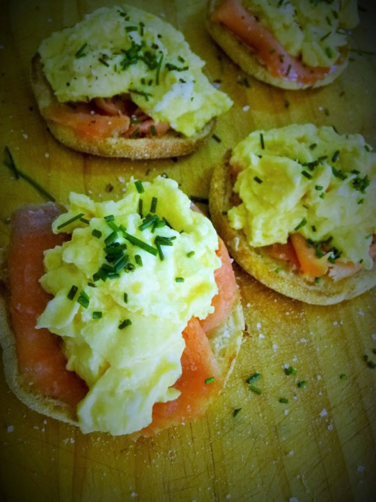 MissFood Fairy's smoked ocean trout and scrambled eggs