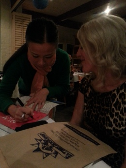 MissFoodFairy with Poh signing my cookbook