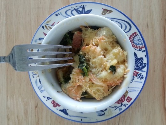 MissFoodFairy's savoury bread pudding ready!