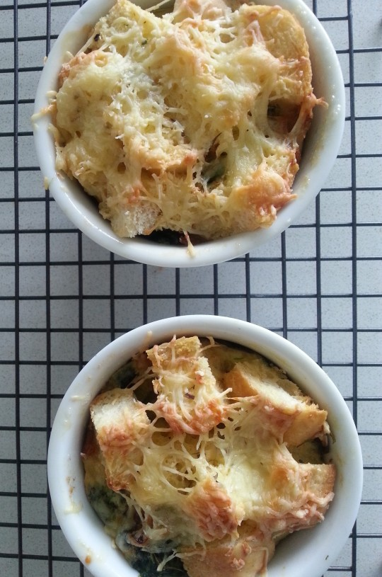MissFoodFairy's savoury bread puddings ready