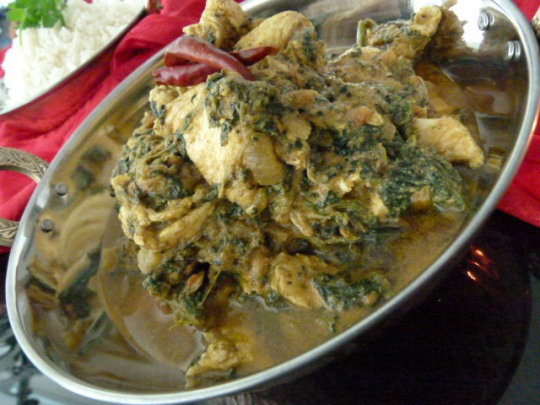 MissFoodFairy's chicken & spinach curry