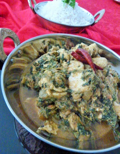 MissFoodFairy's chicken & spinach curry2