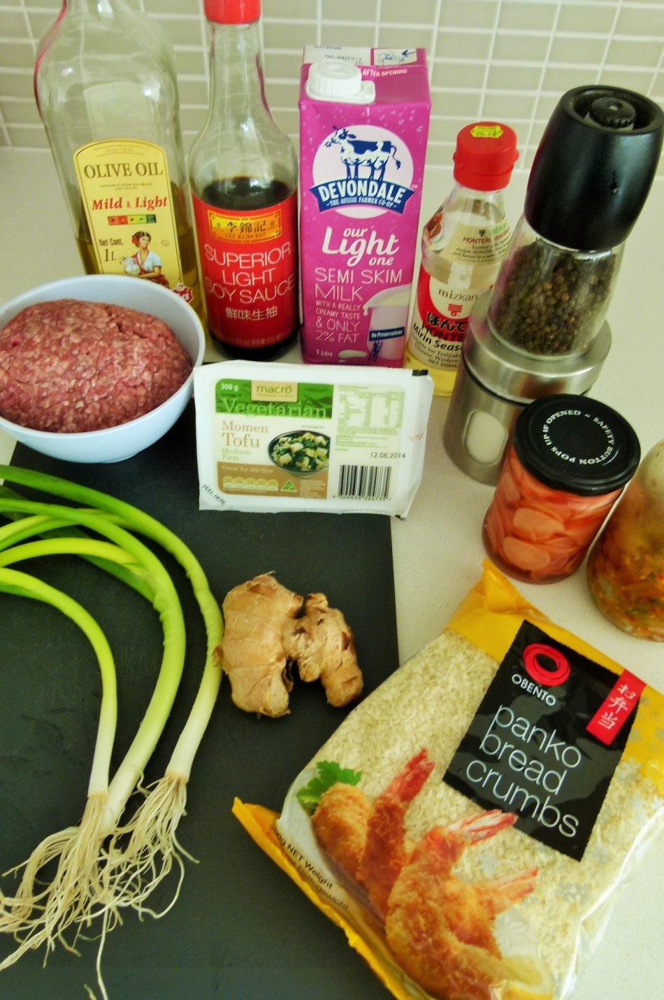MissFoodFairy's japanese meatballs ingredients