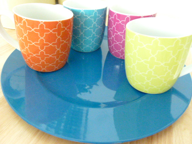 MissFoodFairy's new Moroccan mugs & blue plate