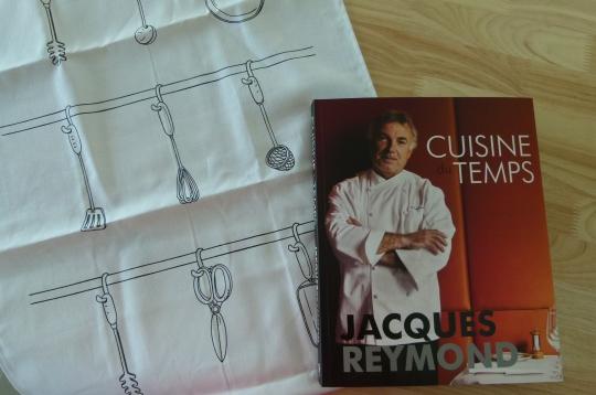 MissFoodFairy's Jacques Reymond cookbook & teatowel