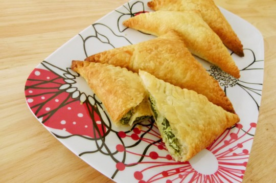 MissFoodFairy's spinach & ricotta triangles #1