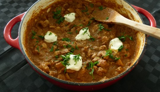 MissFoodFairy's butter chicken ready to serve