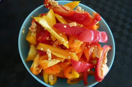 MissFoodFairy's capsicums for peperonata