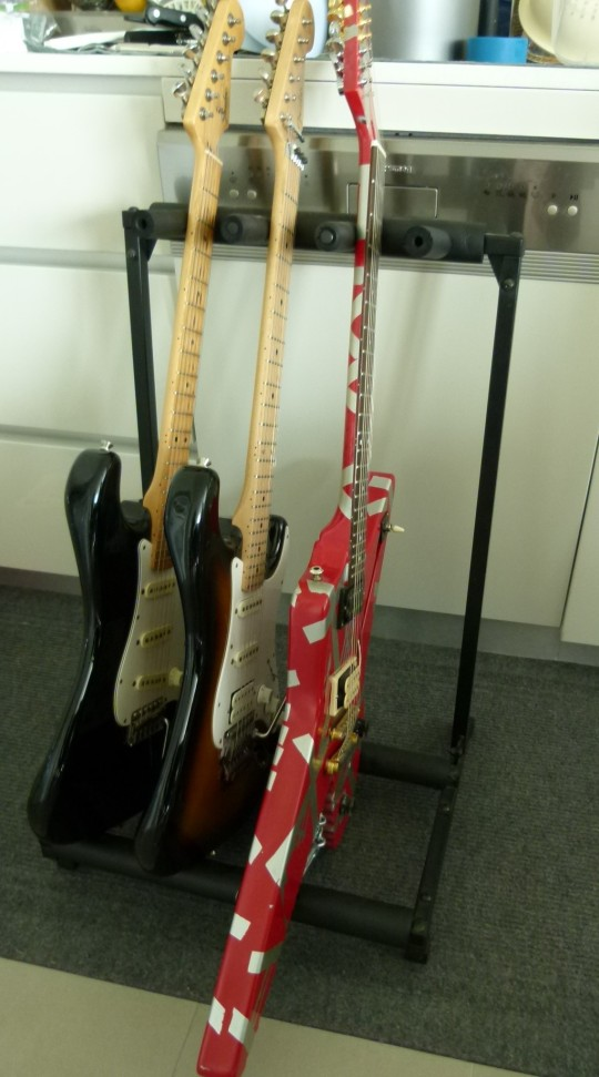 MissFoodFairy's husbands guitars IMKAUG2014