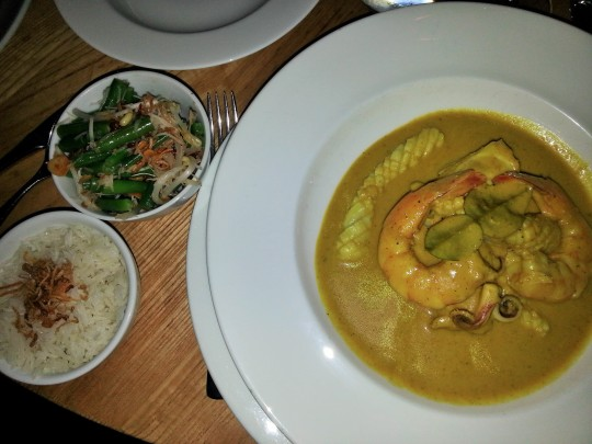 MissFoodFairy's main Madras fish curry at Bannisters