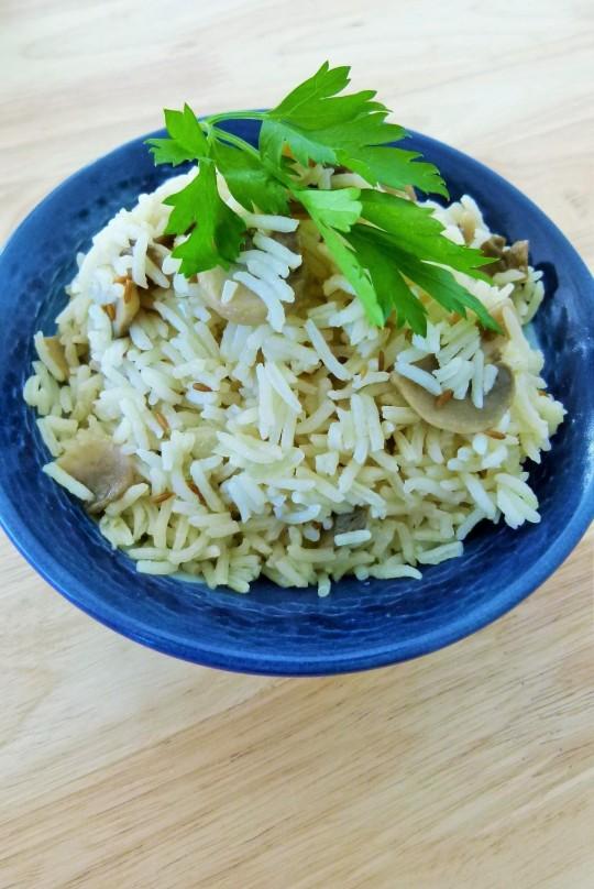 MissFoodFairy's mushroom pilaf rice #4
