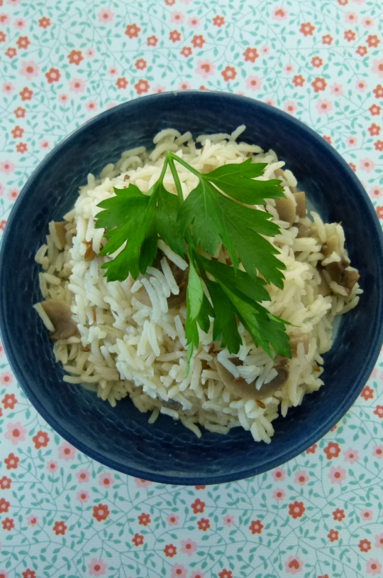 MissFoodFairy's mushroom pilaf rice #5