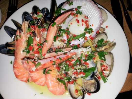 MissFoodFairy's Warm shellfish entree at Bannisters