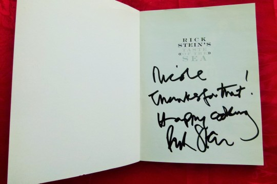 MissFoodFairy's signed Rick Stein's Taste of the Sea cookbook