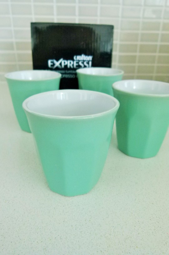 MissFoodFairy's Aldi bargain epresso cups in mint