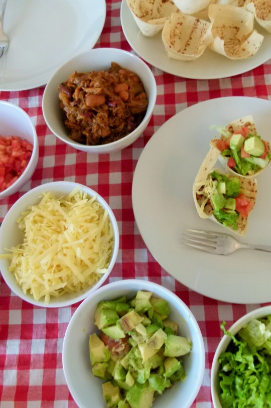 MissFoodFairy's full table of ingredients for taco-cups