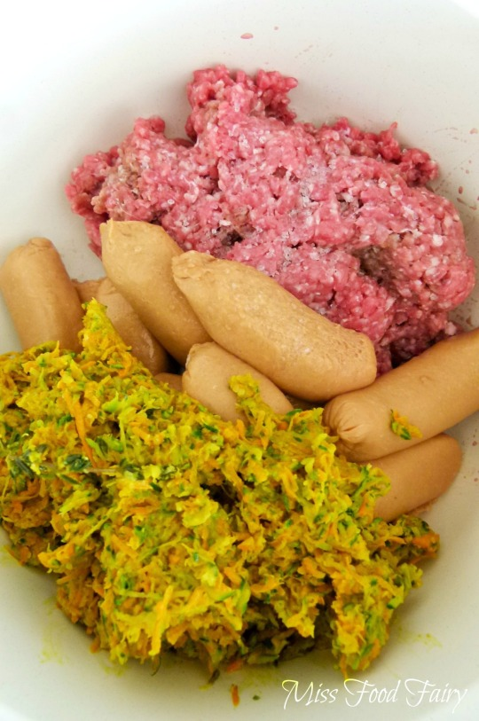 a.MissFoodFairy's sausage, mince & vegggies together