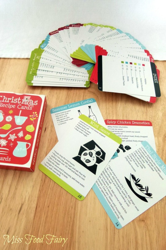 a.MissFoodFairy's Chrissy recipe cards