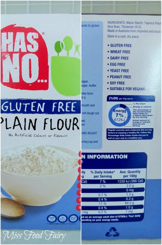 a.MissFoodFairy's gluten free flour from Aldi