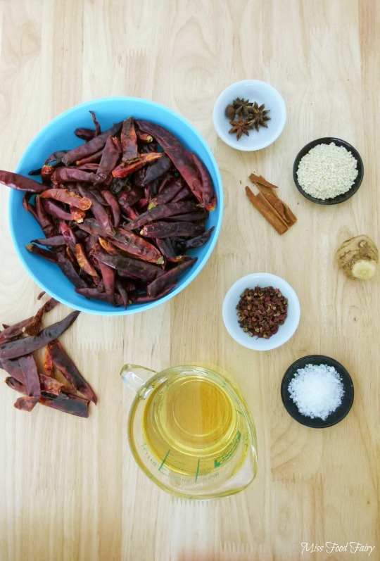 a.Miss Food Fairys Sichuan chilli oil ingredients