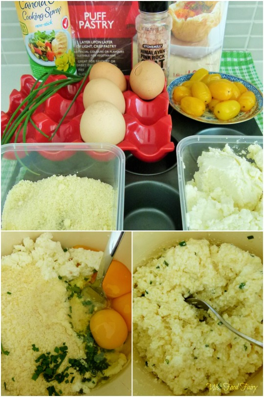 a.MissFoodFairys cherry tomato and ricotta mini tart ingredients