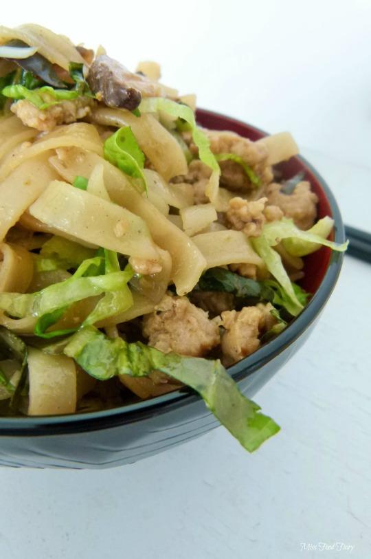 a.MissFoodFairys chicken&Shiitake noodle stirfry #3