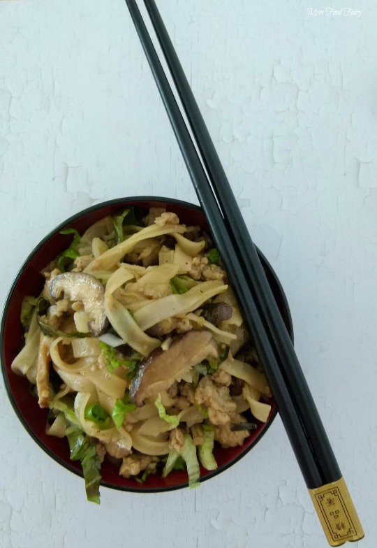 a.MissFoodFairys chicken&Shiitake noodle stirfry #4