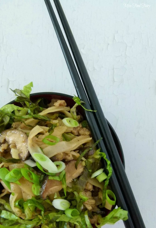 a.MissFoodFairys chicken&Shiitake noodle stirfry #5