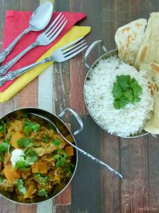 @MissFoodFairy Pumpkin roast chicken curry #2