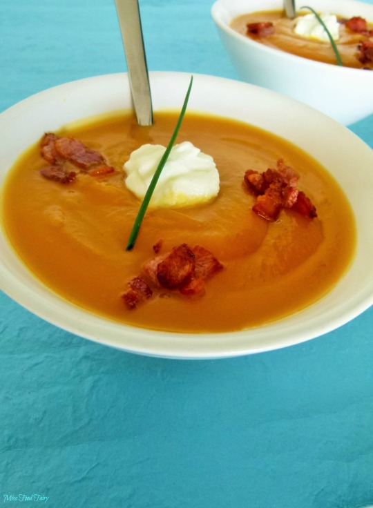 @MissFoodFairy roast pumpkin & bacon crouton soup #4