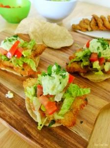 Mini pork schnitzel tostadas #1 @MissFoodFairy