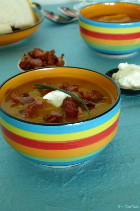 @MissFoodFairy roast pumpkin & bacon crouton soup #1