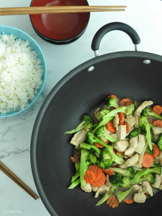 Chicken broccoli carrot stirfry #4 @MissFoodFairy