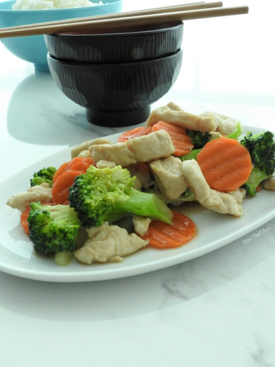 Chicken broccoli carrot stirfry #5 @MissFoodFairy