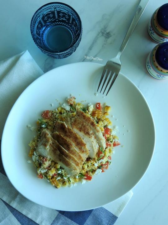 Grilled corn bulgar salad #1 MissFoodFairy