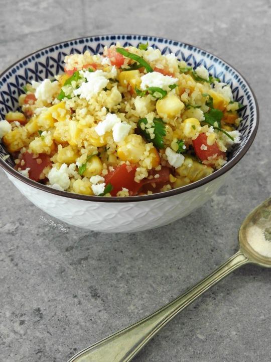 Grilled corn bulgar salad #2 MissFoodFairy