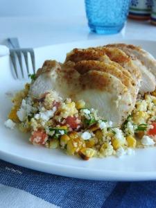 Grilled corn bulgar salad #5 MissFoodFairy