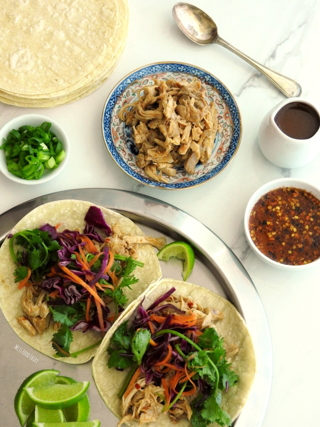 Spicy Asian chicken tacos   Miss Food Fairy