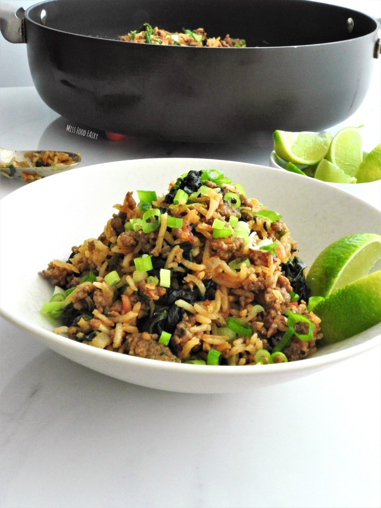 One pan Spanish rice with beef   Miss Food Fairy