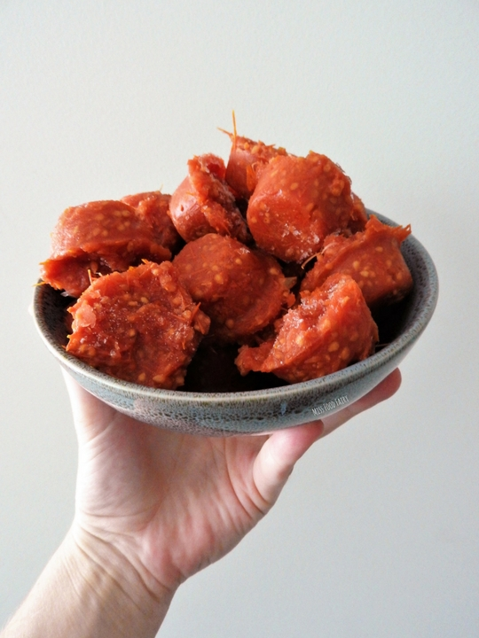 Tomato bombs – using the leftover pulp from passata making